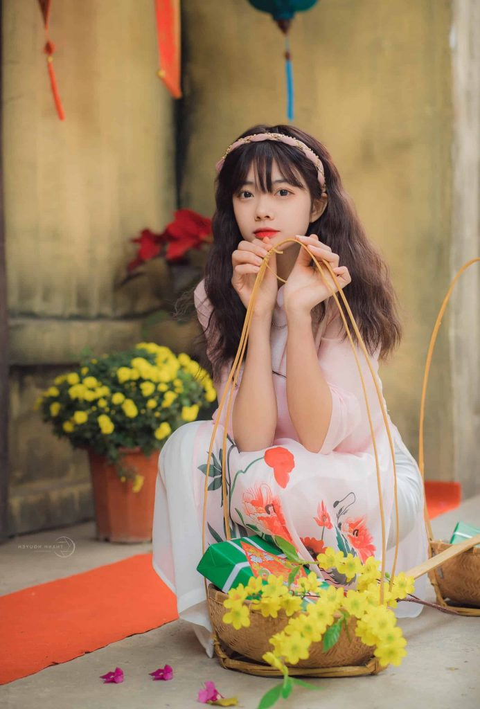 Kim Oanh xinh đẹp rạng ngời trong dịp Tết Tân Sửu